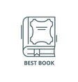 best book line icon best book outline vector image
