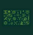 biotech green line vector image vector image