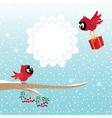 Birds in winter vector image vector image