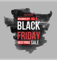 black friday sale design template conceptual vector image vector image