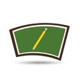blackboard school icon pencil vector image vector image
