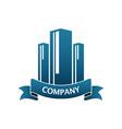 building-logo vector image