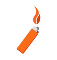 burning lighter icon isolated vector image