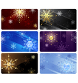 business cards with snowflakes vector image