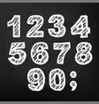 chalk number on blackboard hand drawing vector image vector image