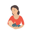 circle icon depicting mother breastfeeding her vector image vector image