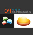 cloud and speech bubble icon sets vector image