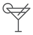 cocktail line icon travel and tourism drink sign vector image
