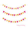 colorful garlands on white vector image vector image
