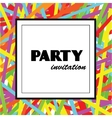 Colorful Party invitation design template vector image vector image