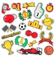 Comic Badges Patches Stickers Champions vector image vector image