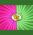 comic fight and duel bright concept vector image vector image