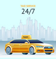 day and night taxi service square banner vector image vector image