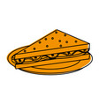 delicious sandwich on dish vector image