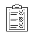 delivery check list icon outline style vector image