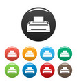digital printer icons set color vector image vector image