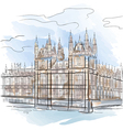 drawing color tower in london uk vector image vector image