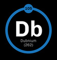 Dubnium chemical element vector image