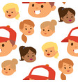 eemotion people faces cartoon emotions vector image vector image