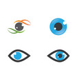 eye logo icon vector image vector image