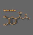 formula hormone adrenaline vector image vector image