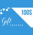 gift voucher style background collection vector image