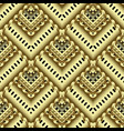 gold striped zigzag 3d greek seamless pattern vector image vector image