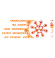 gone viral mosaic covid19 virus elements vector image vector image