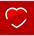 Heart in Love Background vector image vector image