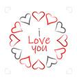 hearts icon symbol of love happy valentines day vector image
