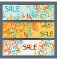 Home appliances and electronics horizontal banners vector image vector image