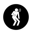 human figure coughing health pictograph block vector image vector image