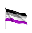 international asexual flag vector image vector image