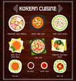 korean cuisine menu food korea meals