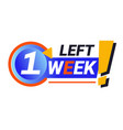 last week left isolated icon sale countdown vector image vector image