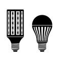 LED energy saving lamp bulb symbols vector image vector image