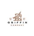 line art griffin logo design template vector image vector image