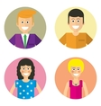 male and female faces avatars vector image vector image