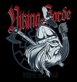 norse warrior berserker viking head viking ship vector image