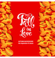 orange card fall leaves vector image