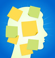 Paper Sticker on Blue Background vector image