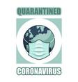 quarantined coronavirus covid-19 mask planet icon vector image vector image