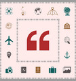 quote icon symbol elements for your design vector image vector image