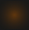 retro halftone dot pattern background from circles vector image vector image