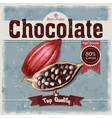 retro of cocoa beans fruit of vector image vector image