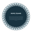 round frame made rope with a knot hand drawn vector image