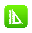 ruler icon green vector image vector image