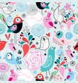 seamless bright multi-colored pattern birds in vector image vector image