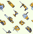 seamless pattern of electric construction tools vector image vector image