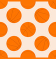 seamless pattern with basketball ball vector image